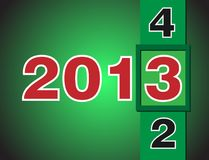 Calendar changes for 2013 year Stock Images
