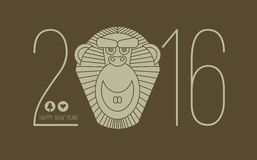 2016 calendar for chineese new year of monkey Stock Image