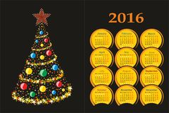 Calendar with a Christmas tree. Royalty Free Stock Images