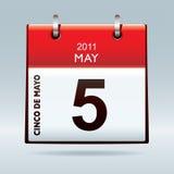 calendar cinco de icon mayo Στοκ εικόνα με δικαίωμα ελεύθερης χρήσης