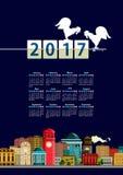 Calendar cityscape Stock Photo