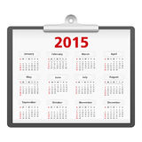2015 Calendar. On a clipboard royalty free illustration