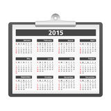 2015 Calendar. On clipboard, vector eps10 illustration Stock Photo