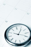 Calendar and clock Royalty Free Stock Photos