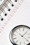 Calendar and clock Stock Images