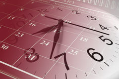 Calendar and Clock Royalty Free Stock Photo