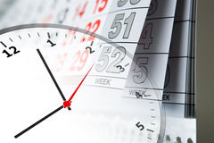 Calendar and clock Stock Photography