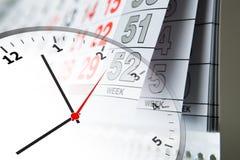 Calendar and clock Stock Photography
