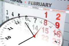 Calendar and clock Royalty Free Stock Image