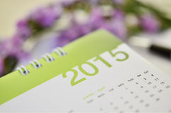 Calendar of 2015 Stock Photo