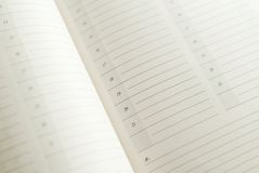Calendar closeup Royalty Free Stock Images