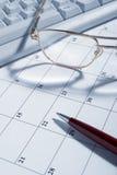 Calendar closeup stock photo