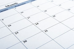 Calendar closeup Royalty Free Stock Photos