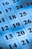 Closeup of Calendar. Calendar closeup close-up dates reminder calendar page weekly Royalty Free Stock Photo