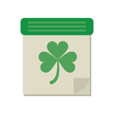 Calendar clover st patrick day irish culture. Vector illustration eps 10 Royalty Free Stock Photography
