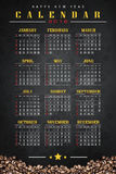 Calendar 2016 with coffee background. Calendar and happy new year 2016 Stock Photos