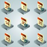 Calendar color gradient isometric icons. Vector illustration, EPS 10 stock illustration