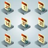 Calendar color gradient isometric icons. Vector illustration, EPS 10 Stock Illustration