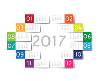 2017 calendar Stock Photos