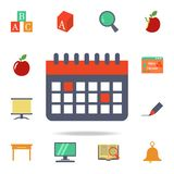 the calendar colored icon. Detailed set of colored education icons. Premium graphic design. One of the collection icons for vector illustration