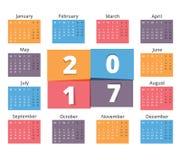 2017 Calendar Royalty Free Stock Image