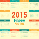Calendar - 2015 Royalty Free Stock Photography