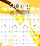 Calendar for 2014 colorful  background. Illustration Royalty Free Stock Photography