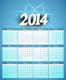 Calendar 2014 colorful creative design illustratio. N Royalty Free Stock Photography