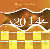 2014 Calendar colorful design. Illustration vector illustration