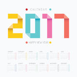 2017 Calendar colorful happy new year vector design. 2017 Calendar colorful happy new year vector design Stock Image