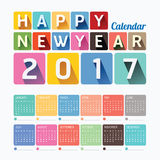 2017 Calendar colorful happy new year vector design. 2017 Calendar colorful happy new year vector design Royalty Free Stock Images