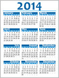 Calendar 2014 Stock Photos