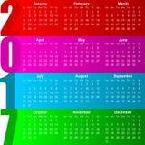 2017 calendar. Colorful modern design illustration Stock Image