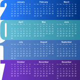 2017 calendar. Colorful modern 2017 calendar illustration Royalty Free Stock Images