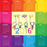 Calendar 2016 Royalty Free Stock Photography