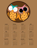 Calendar 2016. Colorful calendar for the new year 2016 stock illustration