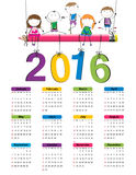 Calendar 2016 Royalty Free Stock Photos