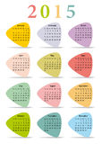 Calendar 2015 in colorful triangles Royalty Free Stock Image