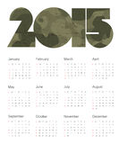 Calendar 2015 Colorful. Vector. Royalty Free Stock Photo