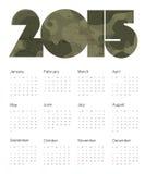 Calendar 2015 Colorful. Vector. Calendar 2015 Colorful. Vector Illustration Royalty Free Stock Photo