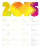 Calendar 2015 Colorful. Vector. Stock Photos
