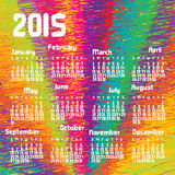 Calendar 2015 Colorful. Vector illustration. EPS10 Royalty Free Stock Photo