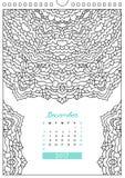 Calendar 2017 for coloring Stock Photo