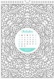 Calendar 2017 for coloring Stock Photos