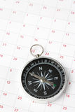 Calendar and compass Royalty Free Stock Images