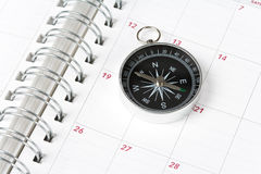 Calendar and compass Royalty Free Stock Image