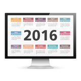 2016 Calendar Stock Photography