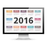 2016 Calendar Stock Photography