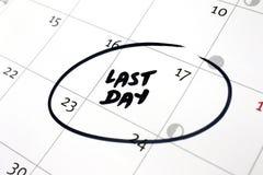 Calendar conceitos, o último dia do trabalho, a escola, a aposentadoria, etc. fotos de stock royalty free