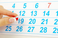 Calendar concept Stock Images